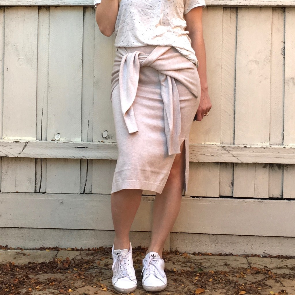 faux sleeve skirt