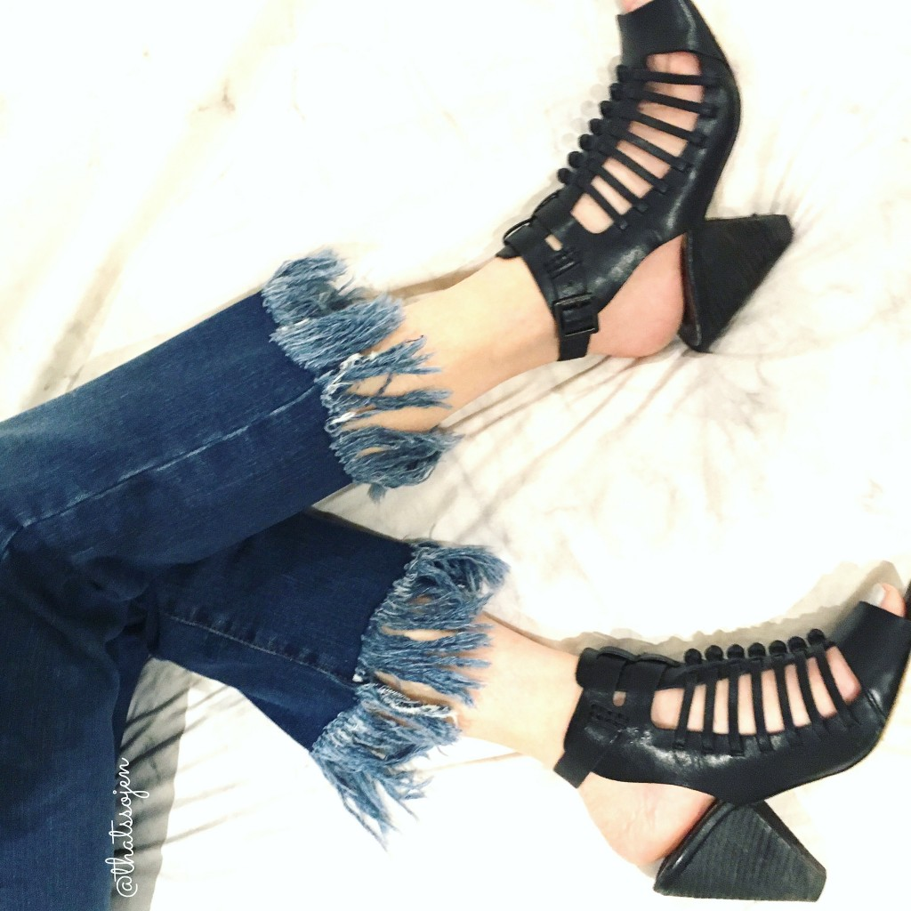frayed denim