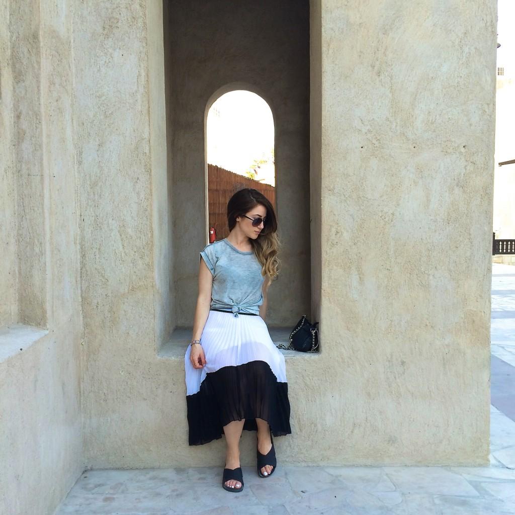 pleated-skirt